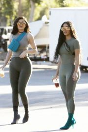 Kim Kardashian and Kylie Jenner in Tights Out in Calabasas 2018/06/11 8