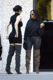 Kim Kardashian and Kylie Jenner in Tights Out in Calabasas 2018/06/11 13