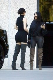 Kim Kardashian and Kylie Jenner in Tights Out in Calabasas 2018/06/11 14