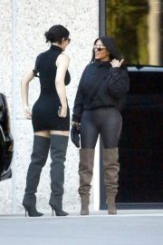 Kim Kardashian and Kylie Jenner in Tights Out in Calabasas 2018/06/11 15
