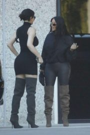 Kim Kardashian and Kylie Jenner in Tights Out in Calabasas 2018/06/11 19