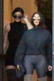 Kim Kardashian and Kylie Jenner in Tights Out in Calabasas 2018/06/11 20