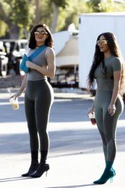 Kim Kardashian and Kylie Jenner in Tights Out in Calabasas 2018/06/11 31