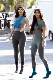 Kim Kardashian and Kylie Jenner in Tights Out in Calabasas 2018/06/11 32
