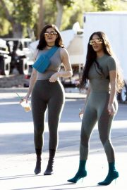 Kim Kardashian and Kylie Jenner in Tights Out in Calabasas 2018/06/11 33