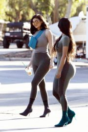 Kim Kardashian and Kylie Jenner in Tights Out in Calabasas 2018/06/11 34