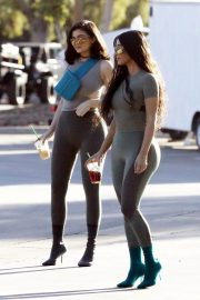 Kim Kardashian and Kylie Jenner in Tights Out in Calabasas 2018/06/11 36