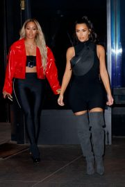 Kim Kardashian and Lala Anthony head out to see a secret NAS concert with Kanye West in Queens 2018/06/14 16