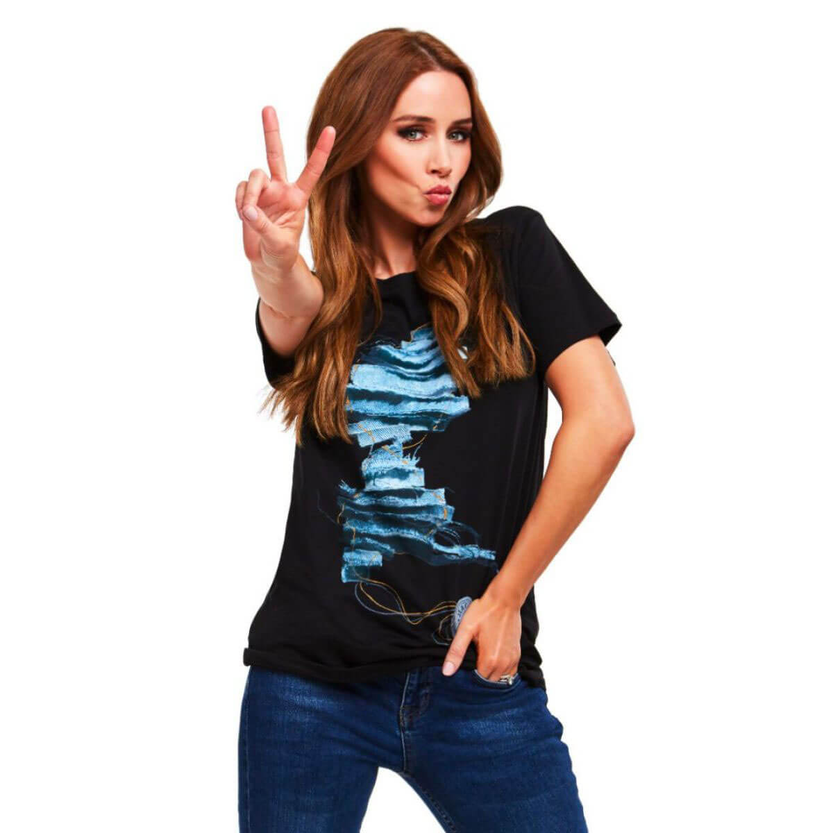 Kimberley Walsh and Una Healy for Jeans for Genes, 2018 1