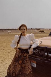 Lindsay Lohan in Emirates Woman Magazine, June 2018 Issue 6