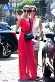 Michelle Hunziker and Aurora Ramazzotti Out Shopping in Milan 2018/06/14 10