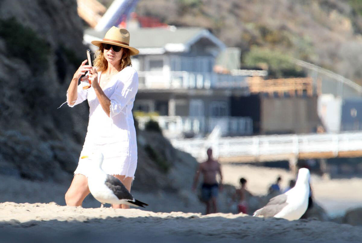 Minnie Driver Out on the Beach in Los Angeles 2018/06/11 1