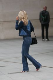 Mollie King in Double Denim Out in London 2018/06/07 1