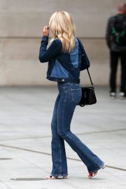 Mollie King in Double Denim Out in London 2018/06/07 4