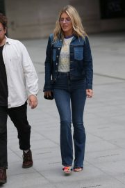 Mollie King in Double Denim Out in London 2018/06/07 5