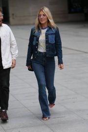 Mollie King in Double Denim Out in London 2018/06/07 6