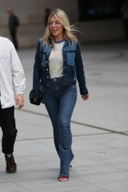 Mollie King in Double Denim Out in London 2018/06/07 7