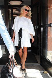 PAMELA ANDERSON Leaves Megyn Kelly Today Show in New York 2018/06/06 9