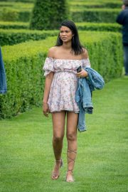 Pregnant Chanel Iman and Nickayla Rivera at a Country Estate near Windsor 2018/05/30 12