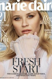 Reese Witherspoon in Marie Claire Magazine, March 2018 Issue 12
