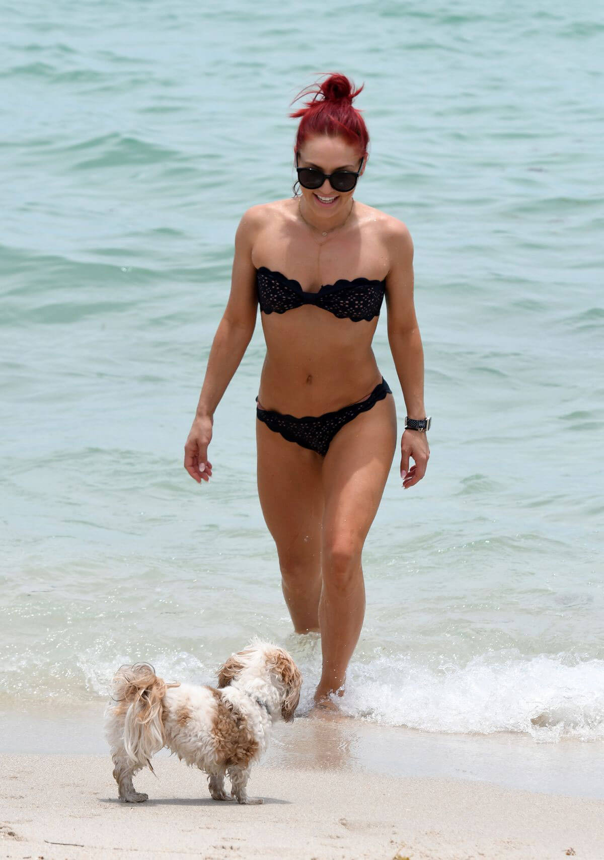 Sharna Burgess in Bikini at a Beach in Miami 2018/06/01 20