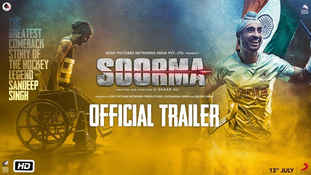 Soorma (2018) Movie Official Trailer | Diljit Dosanjh, Taapsee Pannu & Angad Bedi - June 10, 2018 1
