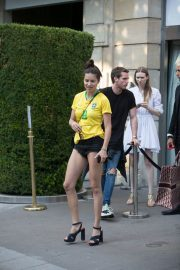 Adriana Lima in Brazil Team Jersey and Shorts Out in Paris 2018/07/02 3