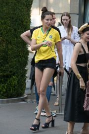 Adriana Lima in Brazil Team Jersey and Shorts Out in Paris 2018/07/02 7