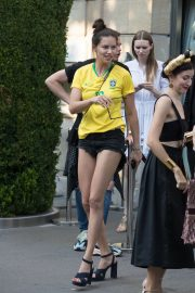 Adriana Lima in Brazil Team Jersey and Shorts Out in Paris 2018/07/02 8