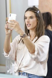 Alessandra Ambrosio on the Backstage of Zuhair Murad Fashion Show in Paris 2018/07/04 11