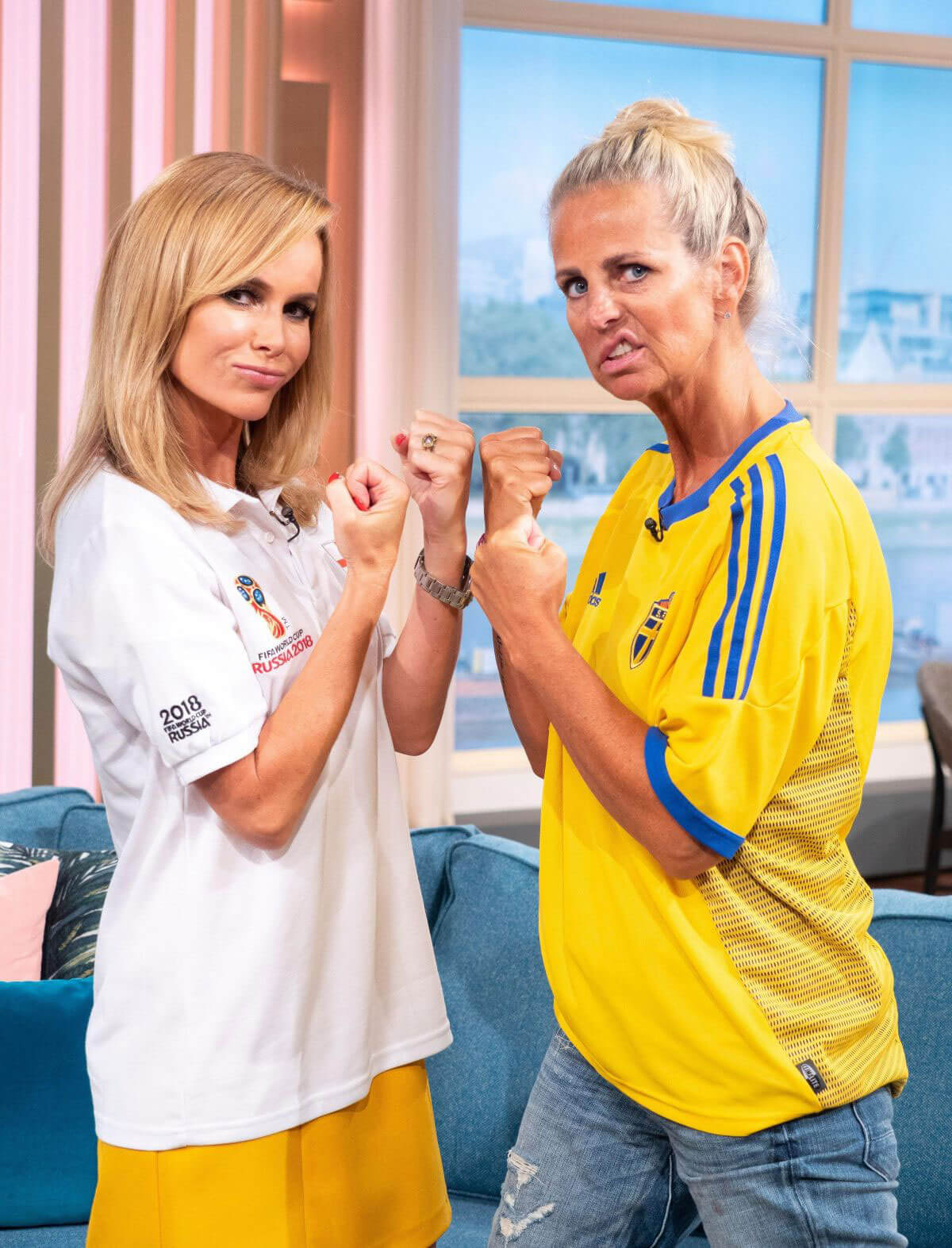 Amanda Holden and Ulrika Jonsson This Morning Show in London 2018/07/06 1