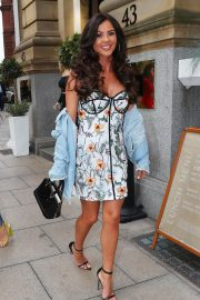 Amber Dowding, Chloe Sims, Shelby Tribble and Georgia Kousoulou  at Rosso Restaurant in Manchester 2018/06/13 1