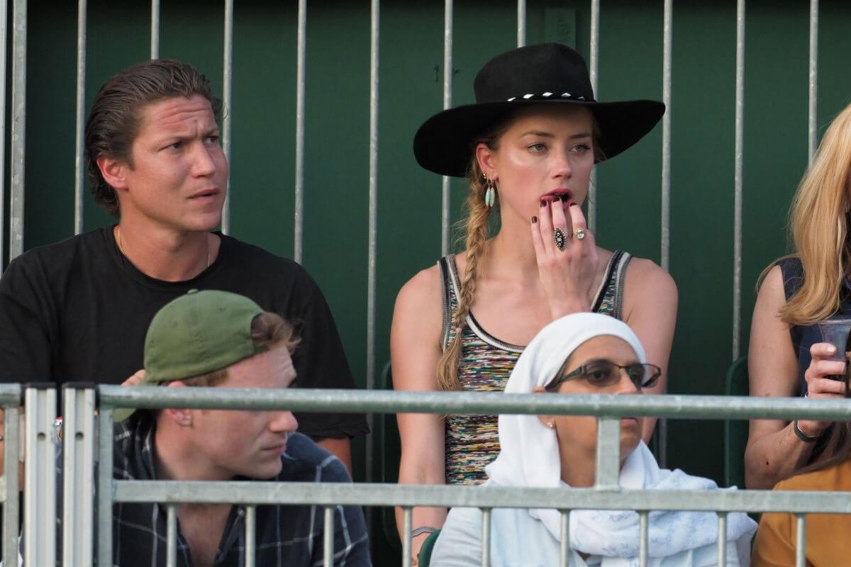 Amber Heard and Vito Schnabel at Wimbledon Tennis Championships in London 2018/07/07 1