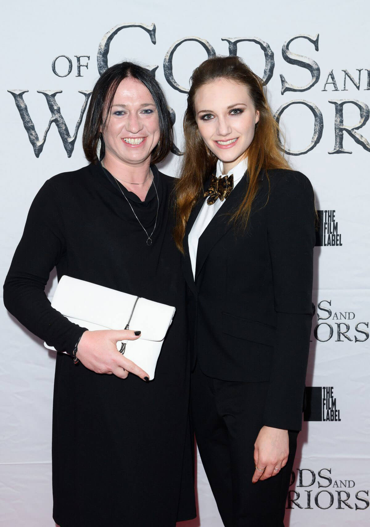 anna demetriou at of gods and warriors premiere in london