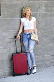 AnnaLynne McCord in Ripped Jeans at LAX Airport in Los Angeles 2018/07/03 10