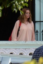 Anne Hathaway on the Set of The Last Thing He Wanted in Puerto Rico 2018/07/06 10