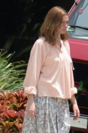 Anne Hathaway on the Set of The Last Thing He Wanted in San Juan 2018/07/02 1