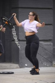 Ashley Graham and Justin Ervin Workout at Dogpound Gym in New York 2018/07/24 1