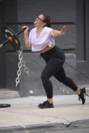 Ashley Graham and Justin Ervin Workout at Dogpound Gym in New York 2018/07/24 6