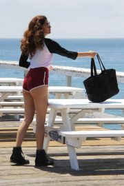 Blanca Blanco Out on the Pier at Paradise Cove in Malibu 2018/07/24 5