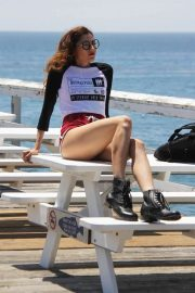 Blanca Blanco Out on the Pier at Paradise Cove in Malibu 2018/07/24 7