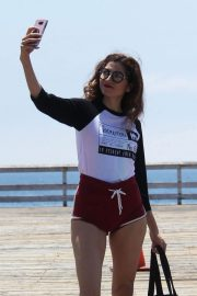 Blanca Blanco Out on the Pier at Paradise Cove in Malibu 2018/07/24 9