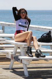 Blanca Blanco Out on the Pier at Paradise Cove in Malibu 2018/07/24 10