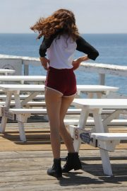 Blanca Blanco Out on the Pier at Paradise Cove in Malibu 2018/07/24 12