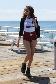 Blanca Blanco Out on the Pier at Paradise Cove in Malibu 2018/07/24 13