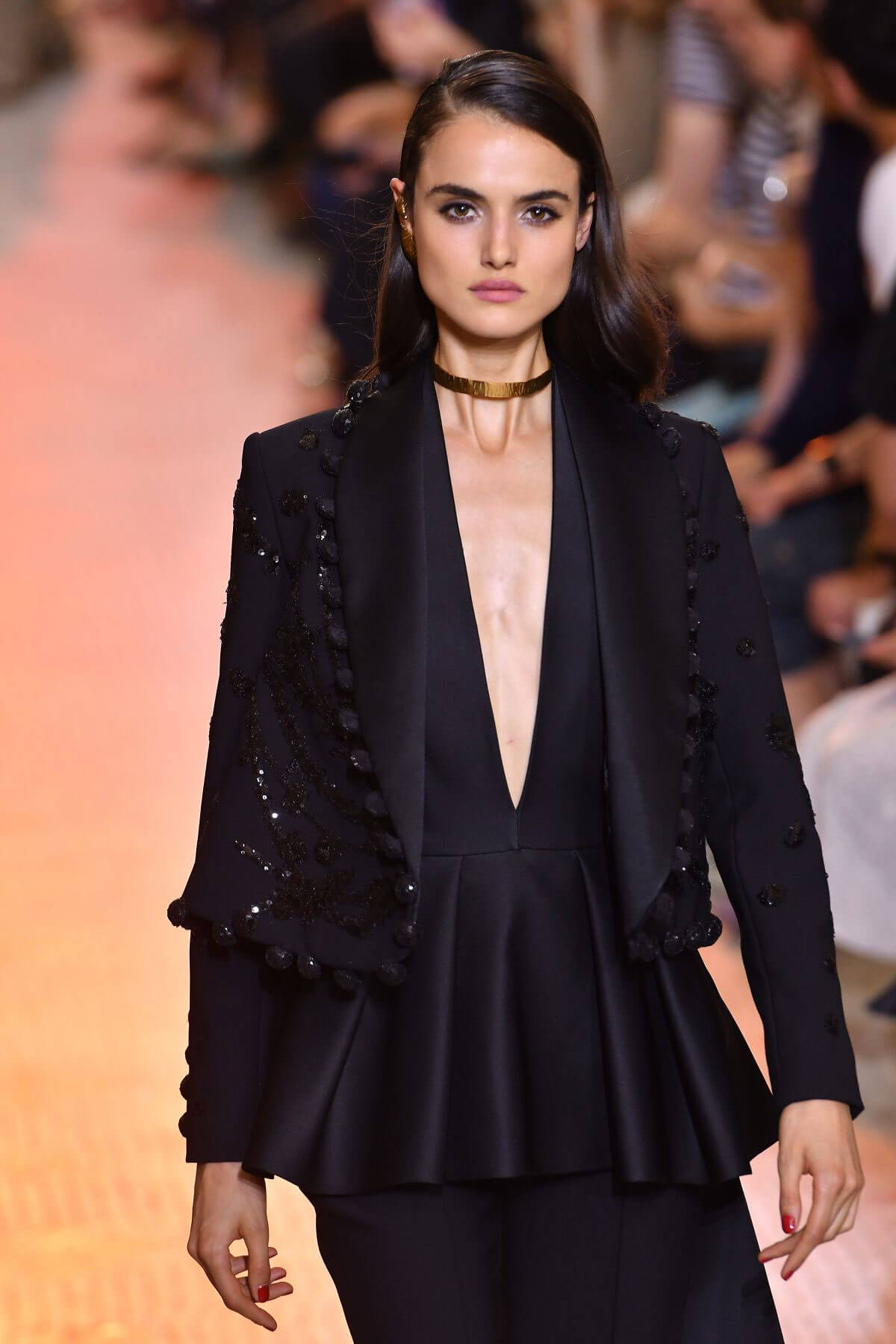 Blanca Padilla at Elie Saab Runway Show at Paris Fashion Week 2018/07/04 1