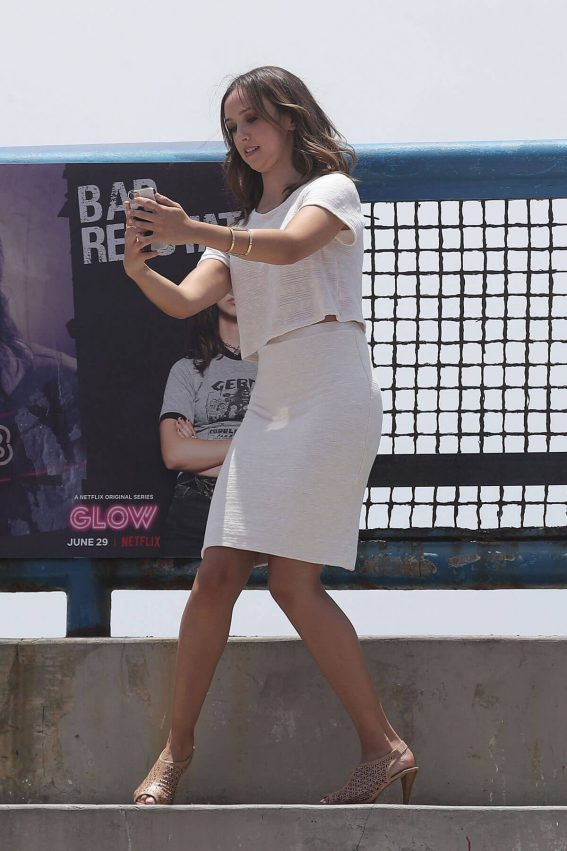 Britt Baron at Glow Promo Event at Muscle Beach in Venice 2018/06/29 1