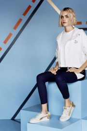 Cara Delevingne for Puma Suede Bow Varsity Trainer Campaign 2018 Photos 2