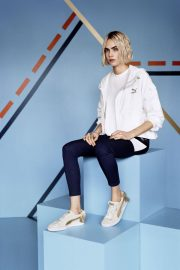 Cara Delevingne for Puma Suede Bow Varsity Trainer Campaign 2018 Photos 3