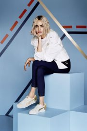 Cara Delevingne for Puma Suede Bow Varsity Trainer Campaign 2018 Photos 4